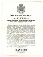 Decreto del 2 Novembre 1849, con il quale si ordinava la consegna alle autorità delle armi possedute