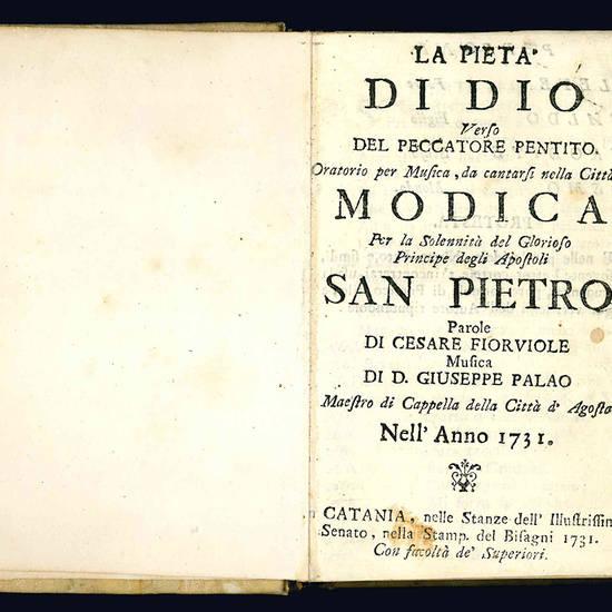 Miscellanea contenente sei sconosciuti libretti per musica catanesi