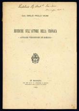 Ricerche sull'autore della cronaca Annales veronenses de romana.