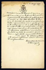 Lettera autografa. Roma: 15 maggio 1904.