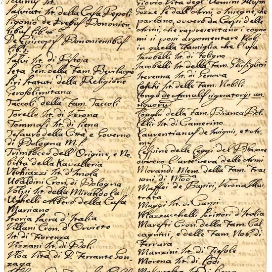 Lotto di frammenti manoscritti contenenti elenchi di libri vendibili e non