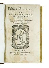 Scholae rhetoricae, de contexendarum epistolarum ratione