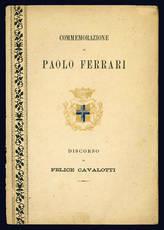 Discorso di Felice Cavalotti in onore di Paolo Ferrari.