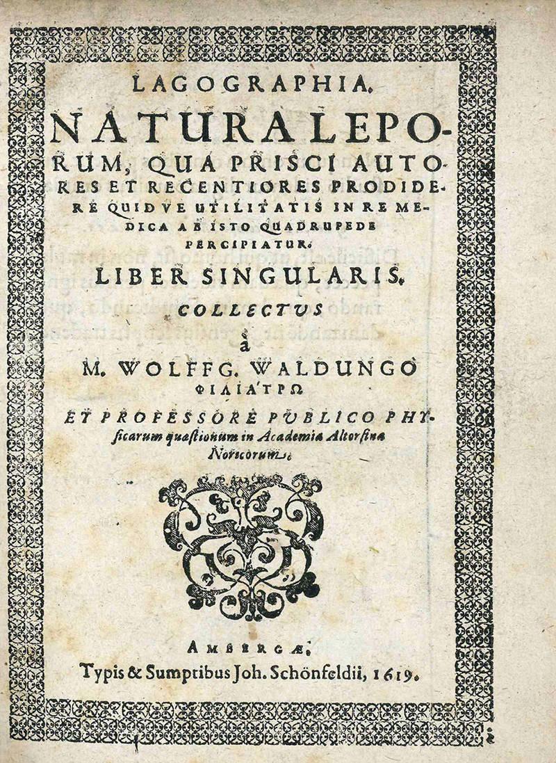 Lagographia. Natura leporum