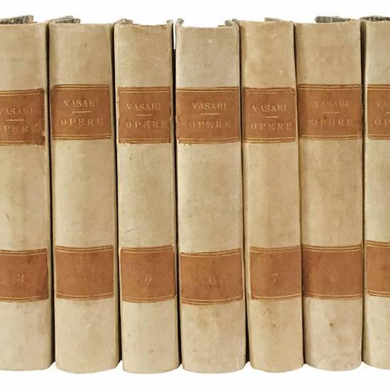 Vite de' più eccellenti pittori scultori e architetti scritte da M. Giorgio Vasari pittore e architetto aretino. In questa prima edizione sanese arricchite più che in tutte l'altre precedenti di rami di giunte e di correzioni per opera del P.M. Guglielm
