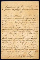 Ricordo al Sig. Ministro Correnti di parte del profess. Amari, Senatore. Firenze: 4 settembre 1871.