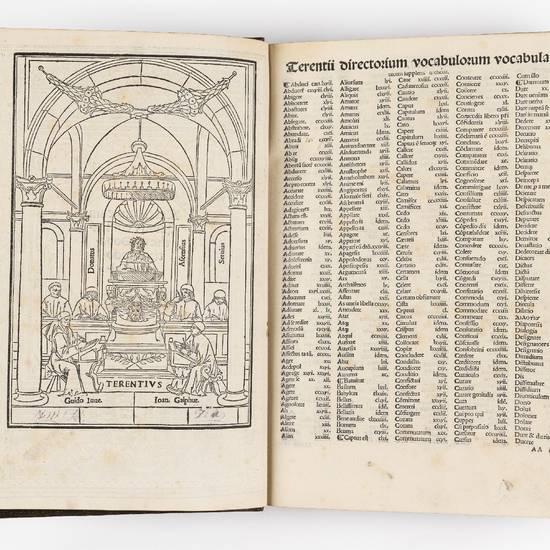 Terentius cum quinque commentis: videlicet Donati: Guidonis: Calphur. Ascensii & Servii