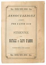 Associazioni aperte per l'anno 1879. Strenne per Natale e Capo d'Anno.