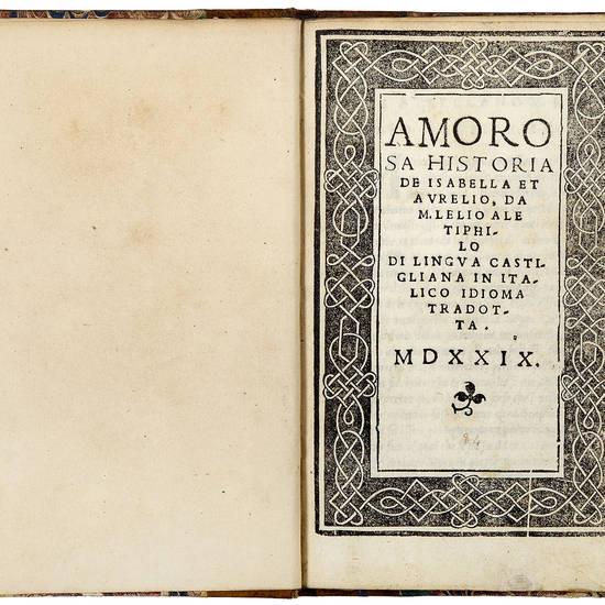 Amorosa historia de Isabella et Aurelio