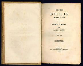 Storia d'Italia dal 1850 al 1866 continuata da quella di Giuseppe La Farina.