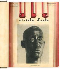 """Lotto di dodici numeri de """"abc Rivista d'arte"""". Anno III - N. 1-12 (annata completa 1934)."""