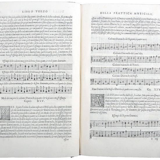 L?Antica Musica ridotta alla Moderna Prattica, con la dichiaratione, et con gli essempi de i tre generi, con le loro spetie. Et con l?inven- tione di uno nuovo stromento, nel quale si contiene tutta la perfetta musica, con molti segreti musicali. Nuovamen