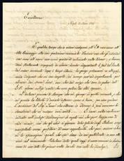 Lettera autografa. Napoli: 11 marzo 1836.