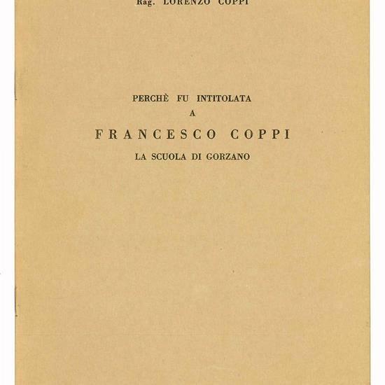 Perchè fu intitolata a Francesco Coppi la scuola di Gorzano.