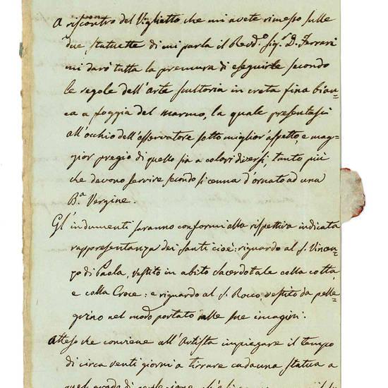 Archivietto composto da cinque lettere autografe del Mainoni.