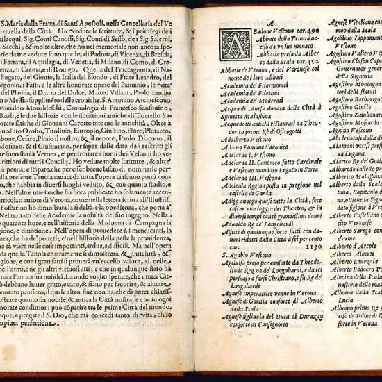 Tavola di quanto è stato raccolto per M. Alessandro Canobbio intorno la nobiltà, antichità, e fatti della città di Verona
