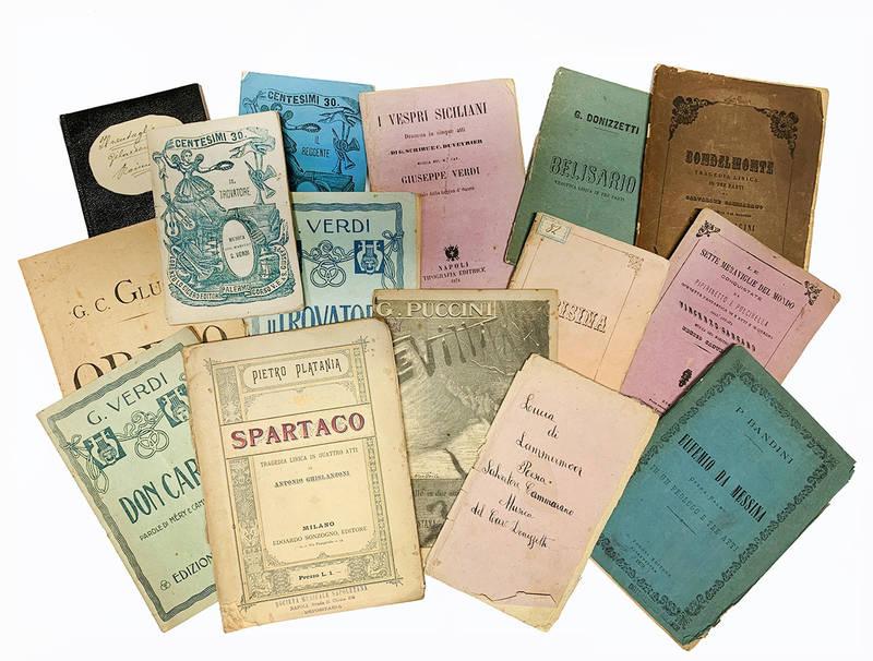 Raccolta di 89 libretti d'opera dell'Ottocento