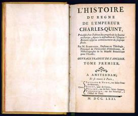 L'Histoire du regne de l'empereur Charles-quint