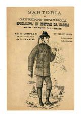 Opuscolo pubblicitario. Specialità in costumi da caccia.