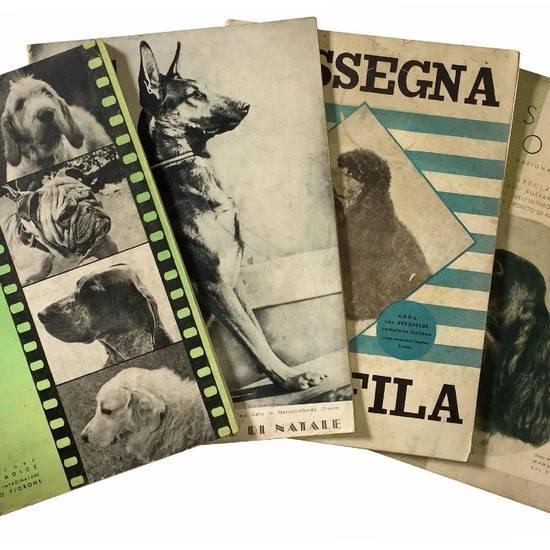 """Lotto di quattro numeri speciali di Natale della """"Rassegna cinofila"""". 1937-1940"""