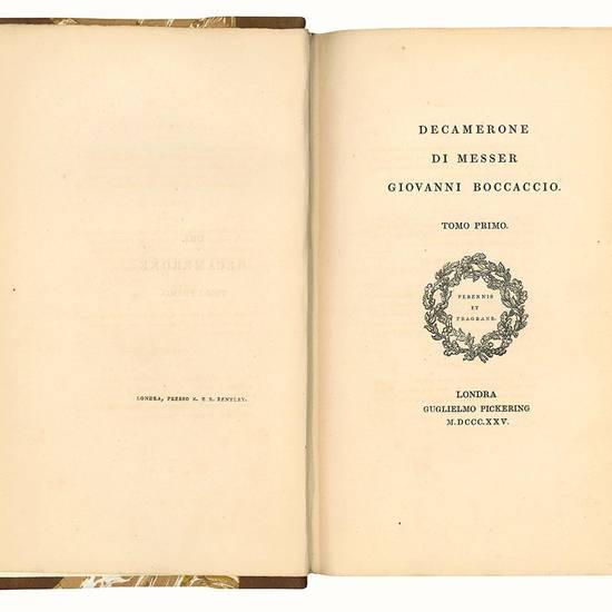 Decamerone di messer Giovanni Boccaccio. Tomo primo (-terzo).