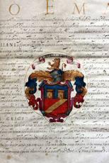PATENTE DI NOBILTÀ concessa da Carlo Emanuele I di Savoia