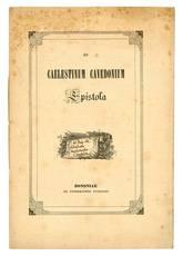 Ad Caelestinum Cavedonium epistola.