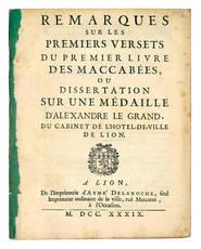 Remarques sur les premiers versets du premier livre des Maccabées.