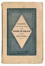 Saggio d'una versione italiana delle poesie di Uhland dell'abate Nicola Negrelli.