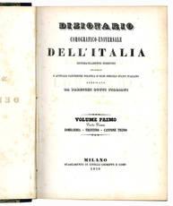 Dizionario corografico-universale dell'Italia. Lombardia - Trentino.
