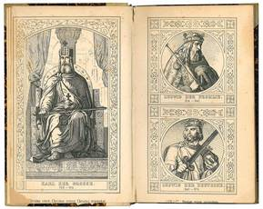 Raccolta di cinquanta tavole incise in rame raffiguranti gli imperatori tedeschi da Carlo Magno a Franz II.