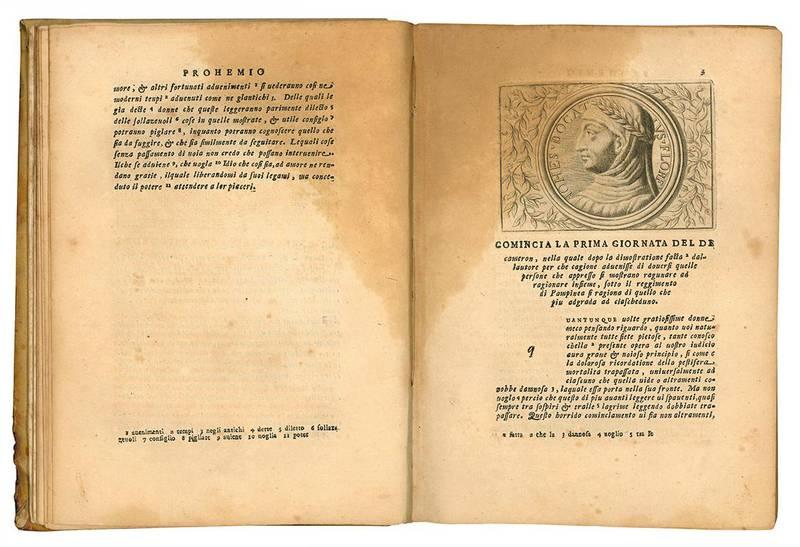 Il Decameron di m. Gio. Boccaccio tratto dall'ottimo testo scritto da Fran.co D'Amaretto Mannelli sull'originale dell'Autore.