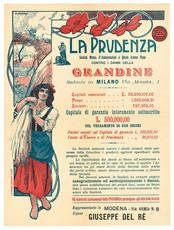 Manifesto illustrato a colori.