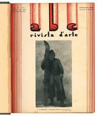 """Lotto di dodici numeri de """"abc Rivista d'arte"""". Anno IV - N. 1-12 (annata completa 1935)."""