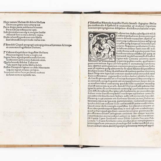 Elegantiole: noviter correcte et in pristinum statum redacte. Libellus eiusdem de novem verbis contra vulgatam multorum opinionem. Eiusdem libellus flosculorum