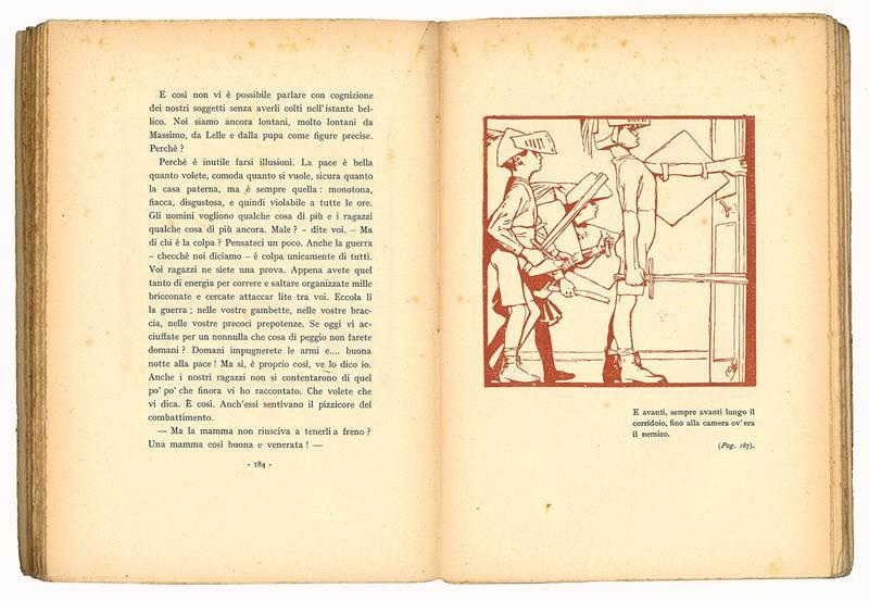 Le prime piume avventure domestiche per i fanciulli con illustrazioni di Duilio Cambellotti