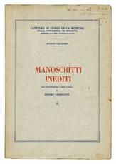 Manoscritti inediti con introduzione e note a cura di Isidoro Ghibellini.