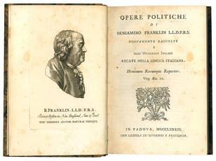 Opere politiche di Beniamino Franklin L.L.D.F.R.S. nuovamente raccolte e dall?originale inglese recate nella lingua italiana