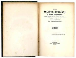 Degli illustri italiani e loro scoperte nelle scienze, nelle lettere, nelle arti.