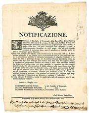 Notificazione del 4 Maggio 1775, con la quale si vietava l'utilizzo di Ordigni nel voltare l'aspetto delle Caldare da Seta.