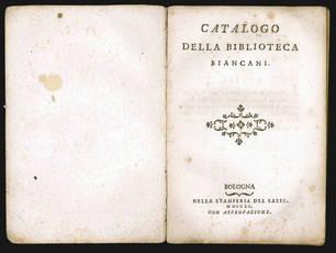 Catalogo della biblioteca Biancani