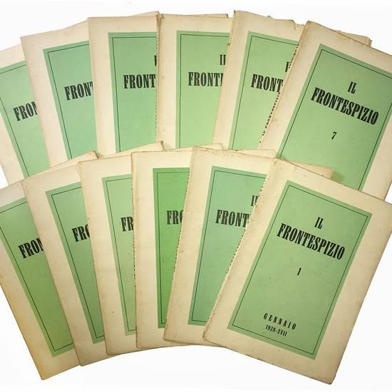 """Lotto di 47 numeri de """"Il Frontespizio"""". Annate complete 1937, 1938, 1939, 1940."""