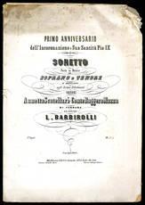 Sonetto posto in musica per soprano o tenore.
