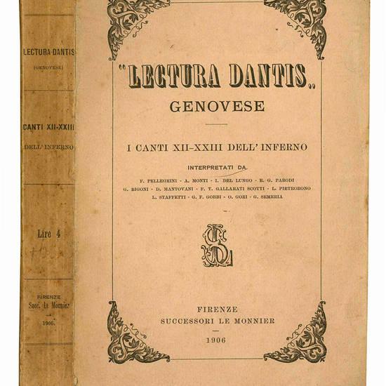 Lectura Dantis genovese. I canti XII-XXIII dell'Inferno.