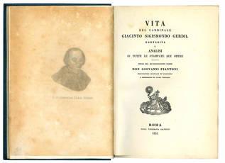 Vita del cardinale Giacinto Sigismondo Gerdil barnabita.