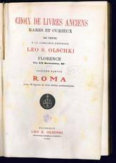 Choix de livres anciens (Roma)