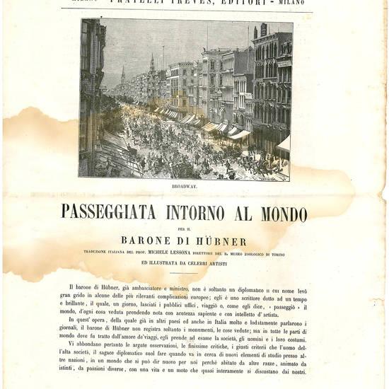 Raccolta di tre avvisi editoriali italiani dell'Ottocento