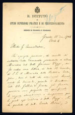 Lettera autografa. Firenze: 15 dicembre 1904.