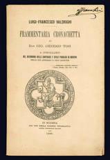 Frammentaria cronachetta di Don. Gio. Genesio Tosi.