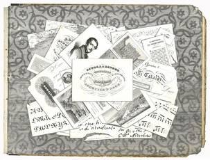 Modello di calligrafia eseguito da Ippolito D'Aste